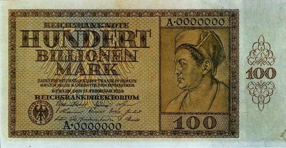 Hyperinflation Geldschein